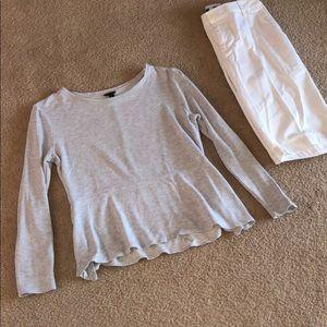 🔴FLASH SALE🔴 Ann Taylor light grey top